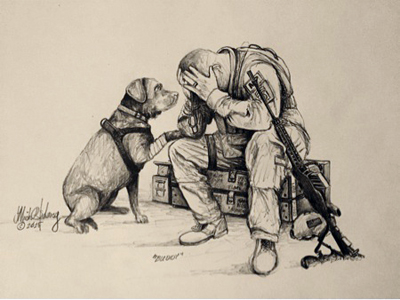 The Solovey Art Collection K9 Service Dogs